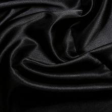 Black Satin High Sheen Fabric 0.5m